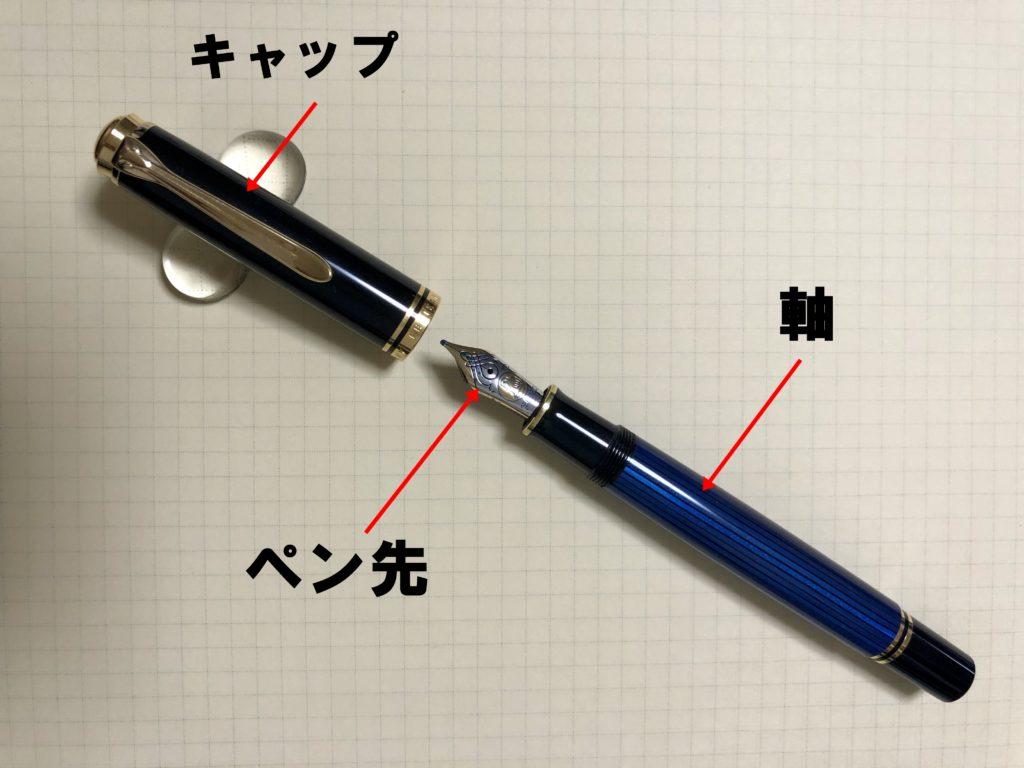 万年筆の構造