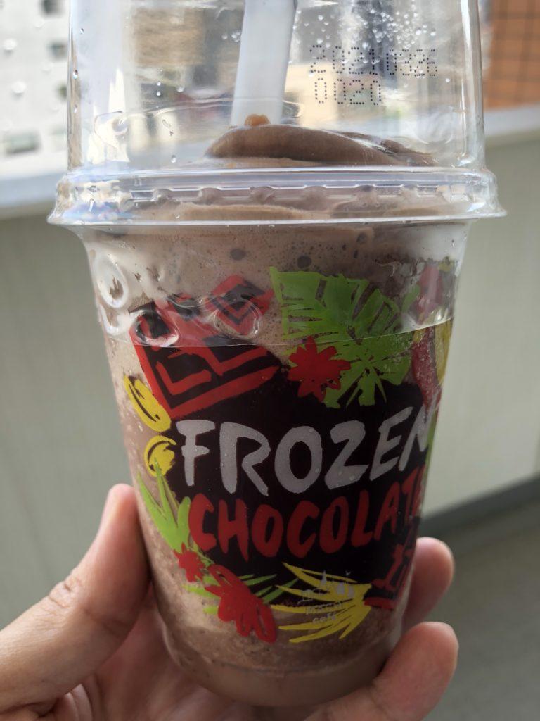 ローソンマチカフェフローズン チョコレート