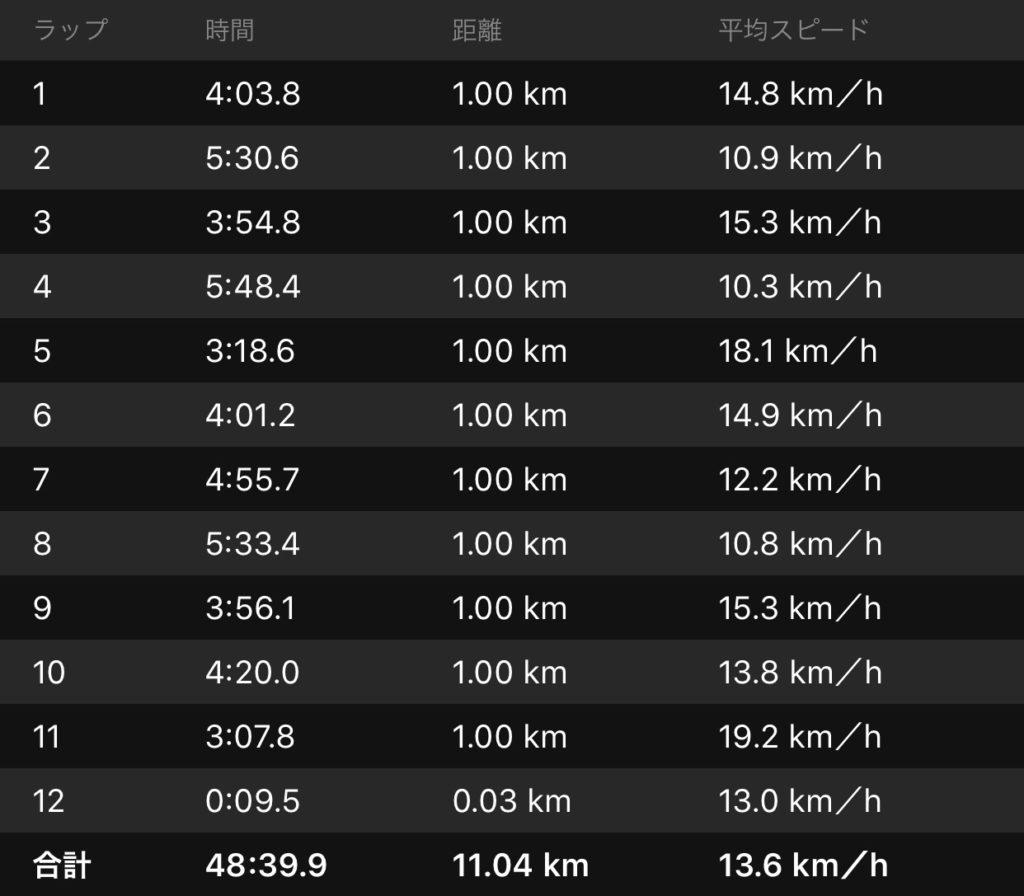 GARMIN サイクリング記録