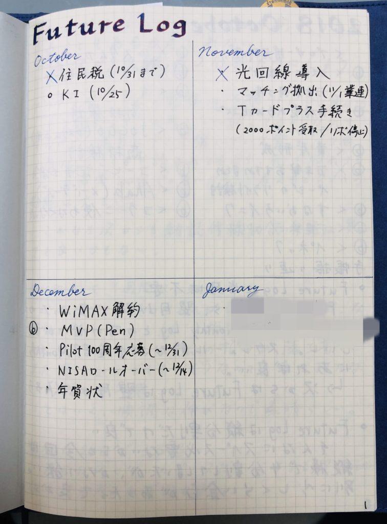 ノート(フューチャーログ)