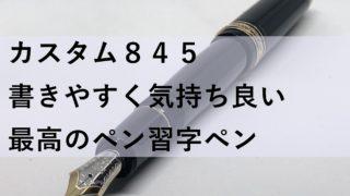 カスタム845 / パイロット